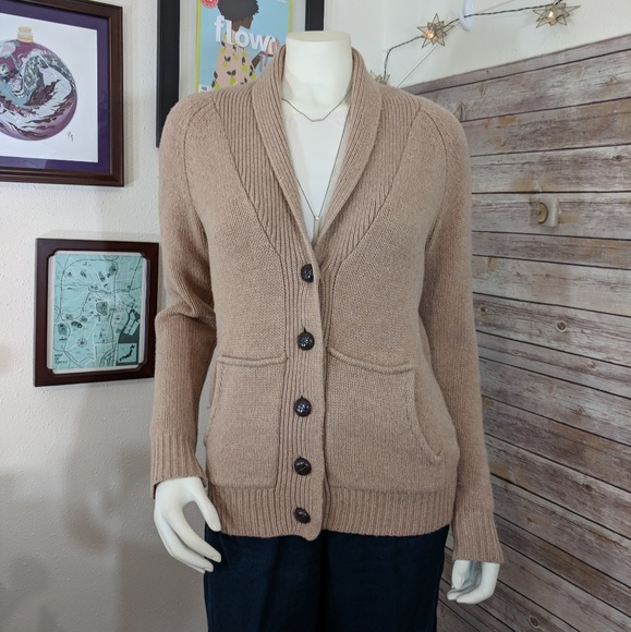 0bdb250fbe Madewell Sweaters - Madewell Beige Knit Thick Button up Cardigan